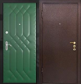 Дверь с порошковым напылением и дутой винилискожей