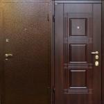 Дверь с отделкой массивом дерева и порошковым напылением