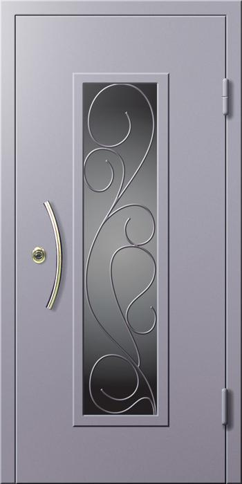 дверь металлические со стеклом