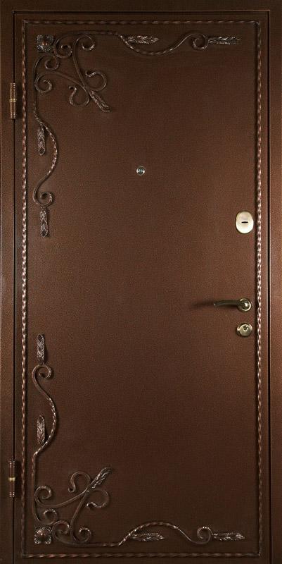 стальные двери порошок с ковкой