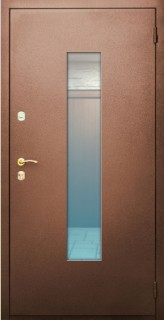 металлические двери порошок с ковкой и стеклом