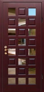 Двери с отделкой МДФ с зеркалом и стеклом