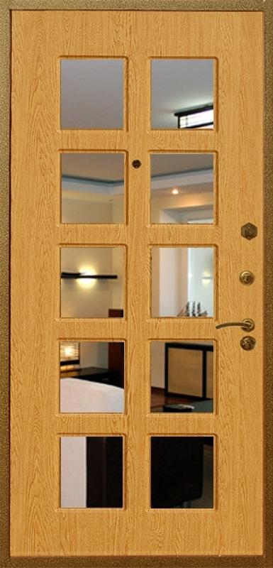 входные двери с декоративным зеркалом внутри