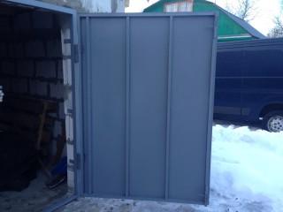 Металлические ворота для гаража