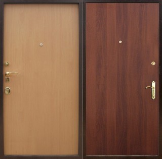 Дверь с двусторонней отделкой ламинатом