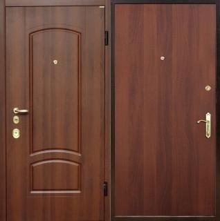 Дверь с отделкой ламинатом и МДФ
