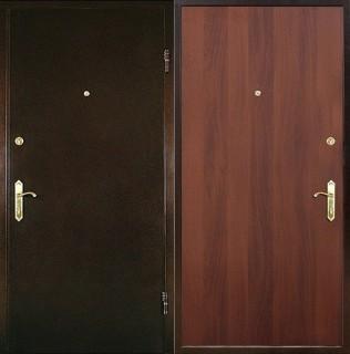 Дверь с отделкой ламинатом и порошковым напылением