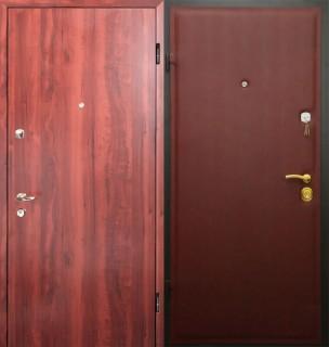 Дверь с отделкой ламинатом и винилискожей