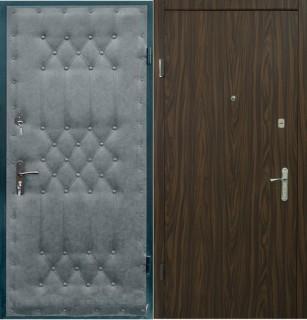 Дверь с отделкой ламинатом и дутой винилискожей
