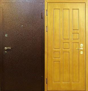 Дверь с отделкой МДФ и порошковым напылением