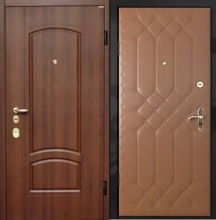 Дверь с отделкой МДФ и дутой винилискожей