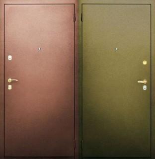 Дверь с двусторонним порошковым напылением
