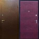 Дверь с порошковым напылением и винилискожей